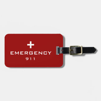 Emergency Medical ID Tags For Luggage