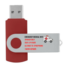 Emergency Medical Info On Hand (personalized) Flash Drive at Zazzle