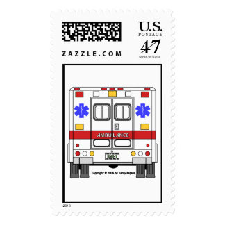 Emergency Medical Services Ambulance (EMS) Stamp