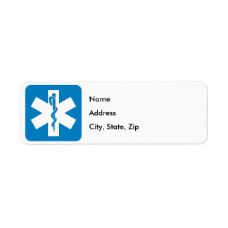 Emergency Medical Services Highway Sign Label