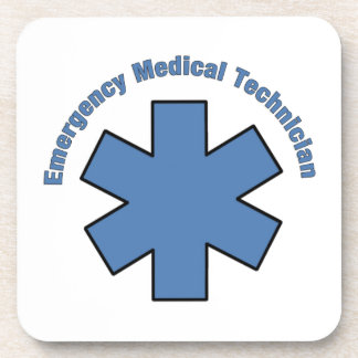 Emergency Medical Tech Beverage Coasters