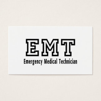 Emergency Medical Technician Business Card