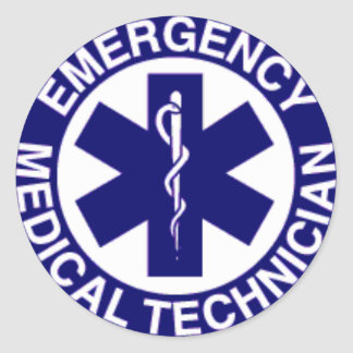 EMERGENCY MEDICAL TECHNICIAN CLASSIC ROUND STICKER