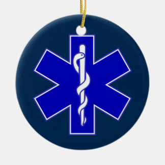 Emergency Medical Technician Double-Sided Ceramic Round Christmas Ornament
