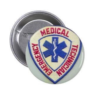 EMERGENCY MEDICAL TECHNICIAN EMT PINBACK BUTTON