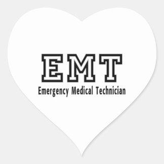 Emergency Medical Technician Heart Sticker