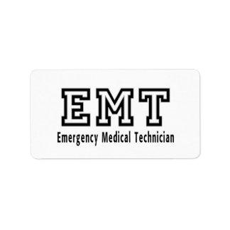Emergency Medical Technician Label