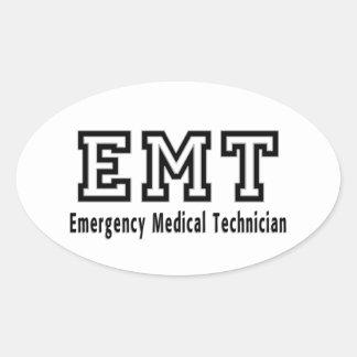 Emergency Medical Technician Oval Sticker