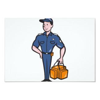 Emergency Medical Technician Paramedic EMT Cartoon 3.5x5 Paper Invitation Card