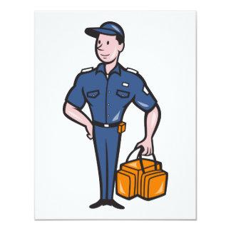 Emergency Medical Technician Paramedic EMT Cartoon 4.25x5.5 Paper Invitation Card