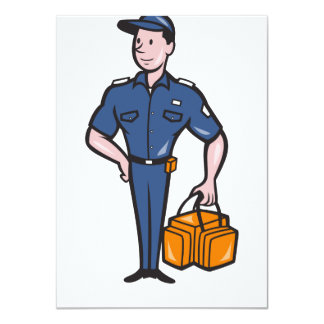 Emergency Medical Technician Paramedic EMT Cartoon 4.5x6.25 Paper Invitation Card
