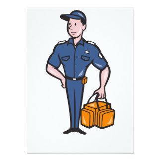 Emergency Medical Technician Paramedic EMT Cartoon 5.5x7.5 Paper Invitation Card