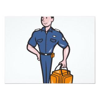 Emergency Medical Technician Paramedic EMT Cartoon 6.5x8.75 Paper Invitation Card