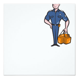 Emergency Medical Technician Paramedic EMT Cartoon Invitation