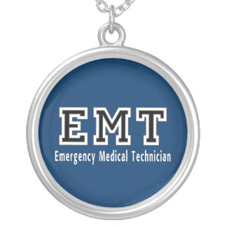Emergency Medical Technician Round Pendant Necklace