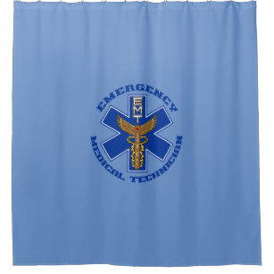 Emergency Medical Technician Shower Curtain
