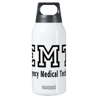 Emergency Medical Technician 10 Oz Insulated SIGG Thermos Water Bottle