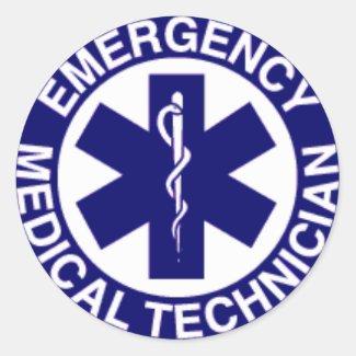 EMERGENCY MEDICAL TECHNICIAN ROUND STICKER