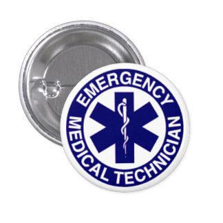 EMERGENCY MEDICAL TECHNICIANS EMT 1 INCH ROUND BUTTON