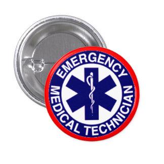 EMERGENCY MEDICAL TECHNICIANS EMT PINBACK BUTTON