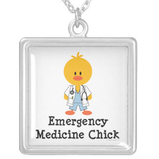 Emergency Medicine Chick Necklace