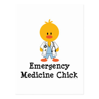 Emergency Medicine Chick Postcard