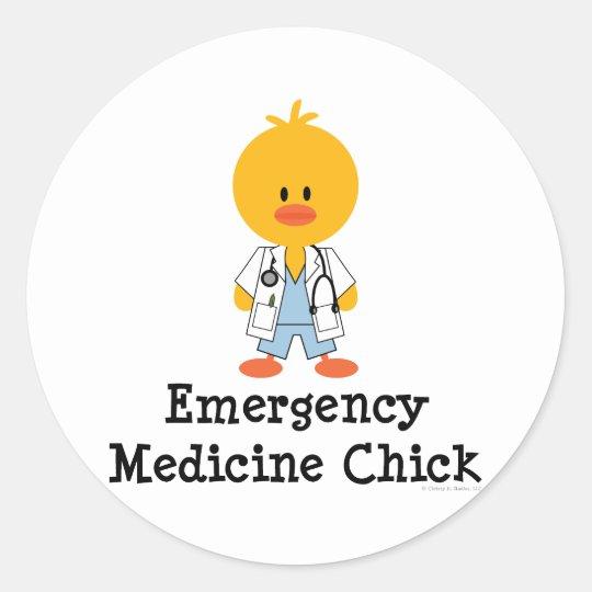 Emergency Medicine Chick Stickers