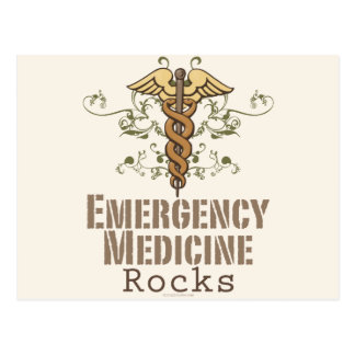 Emergency Medicine Rocks Post Card