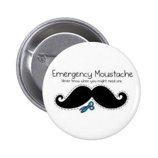 Emergency moustache pin redondo 5 cm