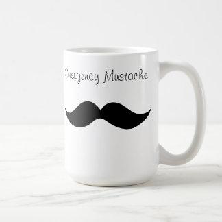 Emergency Mustache Cofee Mug