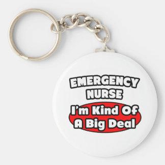 Emergency Nurse...Big Deal Basic Round Button Keychain