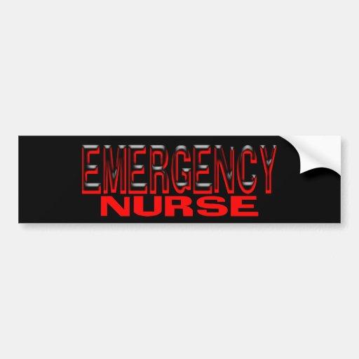 EMERGENCY NURSE BUMPER STICKERS