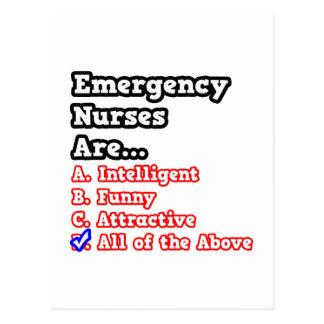 Emergency Nurse Quiz...Joke Postcard