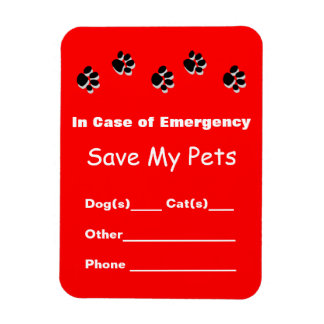 Emergency Pet Rescue Magnet
