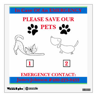 Emergency Pet Wall Sticker
