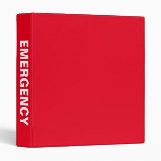 Emergency Preparedness Big Bold Name binder
