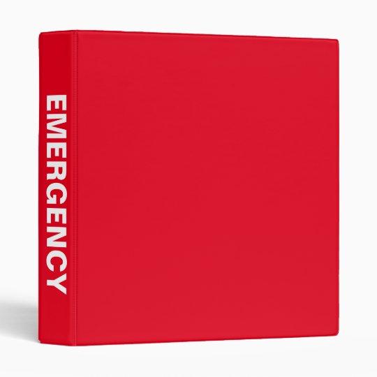 Emergency Preparedness Big Bold Name Binder Zazzle Com