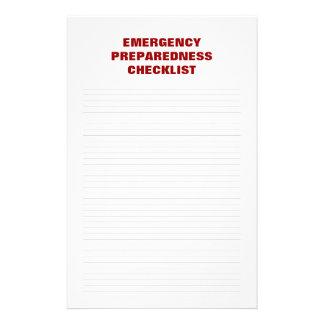 Emergency Preparedness Checklist Stationery