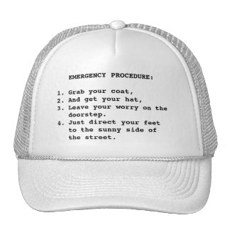 EMERGENCY PROCEDURE TRUCKER HAT