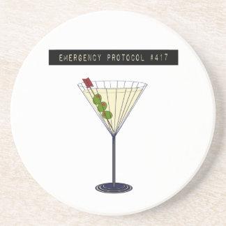 Emergency Protocol #417 Sandstone Coasters