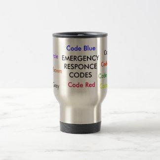 EMERGENCY RESPONCE CODES coffee mug