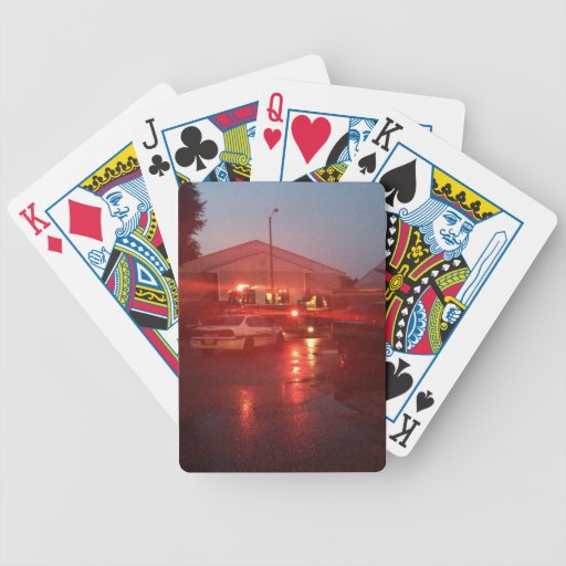 Emergency response cards bicycle poker deck