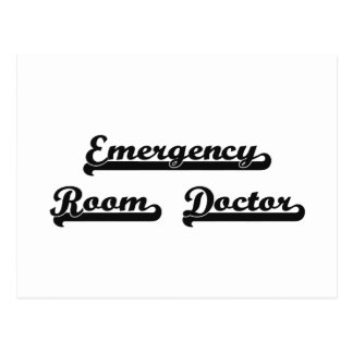 Emergency Room Doctor Classic Job Design Postcard