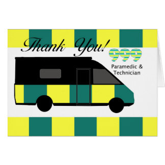 Emergency Services Paramedic and Technician thank Card