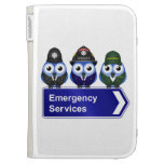 Emergency services sign cases for the kindle