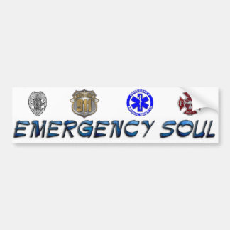 Emergency Soul Bumper Sticker