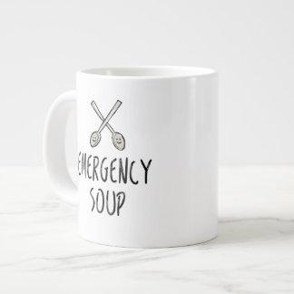 Emergency Soup Get Well Mug Crossed Spoons Drawing
