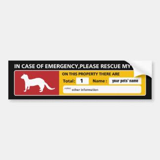 Emergency Sticker (ferret)