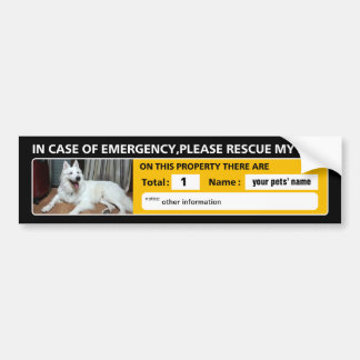 Emergency Sticker (original photo) black type