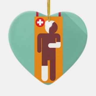 Emergency stretcher Vector Illustration Ceramic Ornament